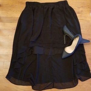 Anthropologie Staring At Stars Black Skirt